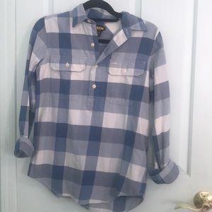 Ralph Lauren Plaid Half Button Shirt